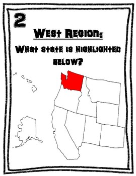 U.S. West Region All Around the Room Scavenger Hunt Activity
