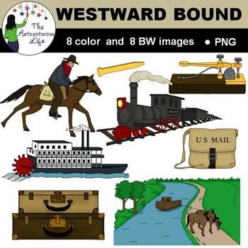 U.S. Western Travel and Communication Clip Art