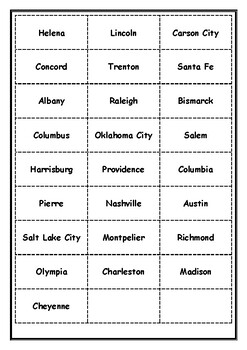 U.S. Learn the States and more Word Sort