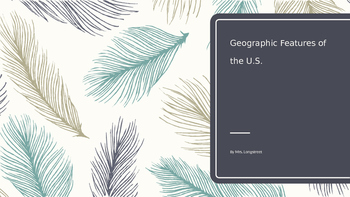 U.S. geographic features power point