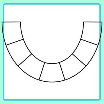 U Shaped Fractions Clip Art Set for Commercial Use`