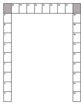 U-Shaped Seating Chart for 26 Chairs (9 x 8 x 9)