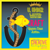 U - UNDERWATER Upper Case Capital Alphabet Letter Craft