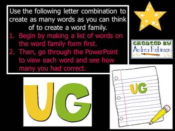 """U"" Word Family Bundle"