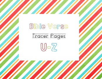U-Z Bible Verse Tracer Pages