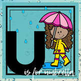 U is for Umbrellas (Weather) Themed Lesson Plans (one week)