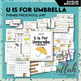 U is for Umbrellas (Weather) Themed Preschool Lesson Plans (one week curriculum)