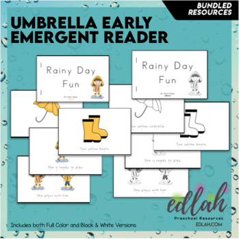 U is for Umbrellas (all weather) Themed Unit-Preschool Lesson Plans (one week)