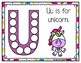 U is for Unicorn Activity Pack Alphabet Common Core Preschool Toddler