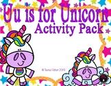 Letter of the Week - U is for Unicorn Preschool Kindergarten Alphabet Pack