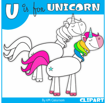 U is for Unicorn Clip Art