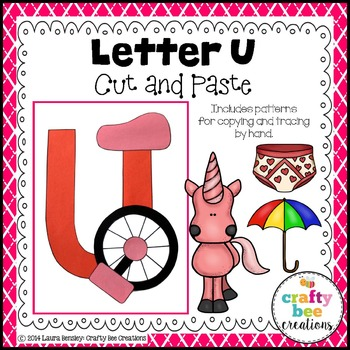 Letter U (Unicycle) Cut and Paste
