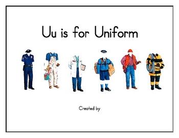 U is for Uniform Class Book Community Helpers
