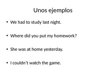 U verb preterite notes