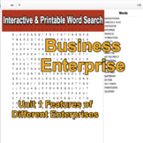 Business Enterprise Environment Interactive Word Search U1