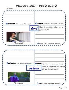U2W2-Wonders Vocabulary Maps 2nd Grade
