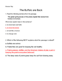 U2W3 Wonders 4th Grade Practice Test for The Buffalo are Back