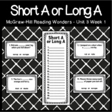 Long A or Short A Task Cards