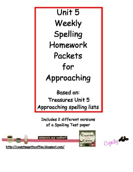 U5 Spelling for APPROACHING Words