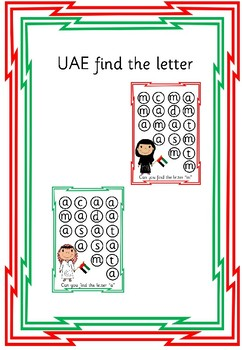 READ WRITE Inc inspired - UAE Find the letter