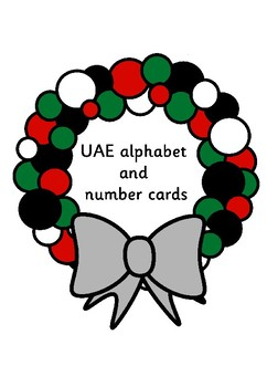 UAE number and alphabet cards