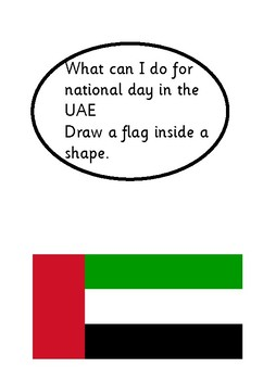 UAE shape flag