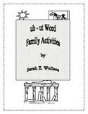 UB - UT WORD FAMILY ACTIVITIES