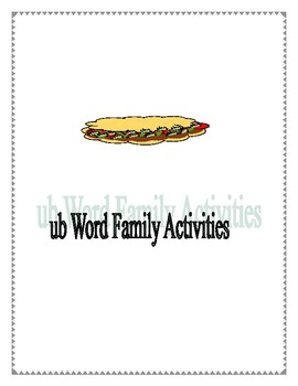 UB WORD FAMILY ACTIVITIES