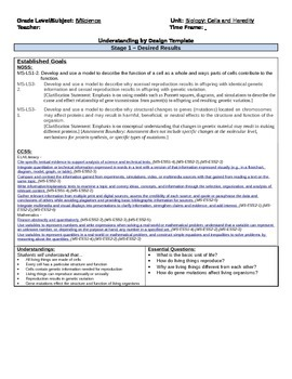 UBD Cells and Heredity Unit Plan