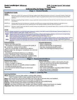 UBD Engineering and Technology Unit Plan