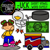 UCK Short U Word Family {Creative Clips Digital Clipart}