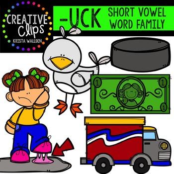 UCK Short U Word Family {Creative Clips Digital Clipart}
