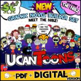 UCanToons GRAPHIC NOVEL BUILDER SET   COMIC TEMPLATES   Creative Writing BUNDLE!