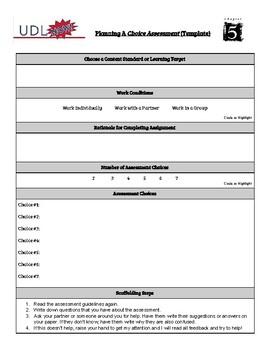 UDL Lesson Design Template