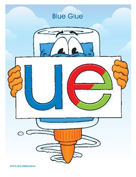 UE (Blue Glue) Word Buddy Poster