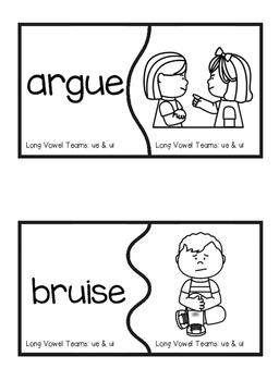 Long Vowel Teams: UE & UI Self-Correcting Puzzles