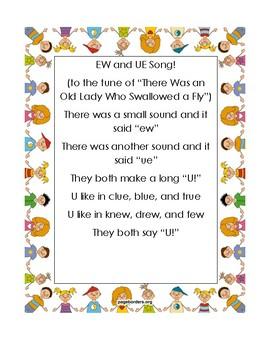 UE and EW Phonics Chant