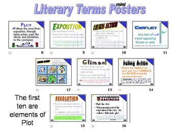 UESG Literary Terms made friendly - over 100 mini posters mini lessons