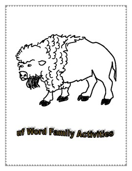UF WORD FAMILY ACTIVITIES
