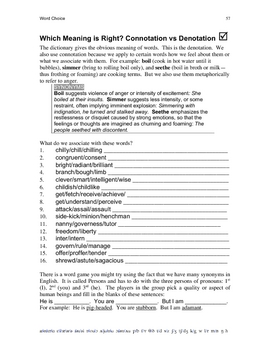 UFD 46-60 Word Choice