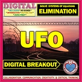 UFO: Digital Breakout about Solving Systems of Equations by Elimination