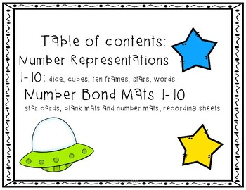 UFO Number Representations and Number Bond Mats
