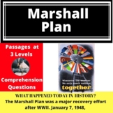 Marshall Plan Differentiated Reading Comprehension Passage