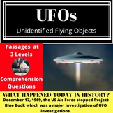 UFOs Differentiated Reading Comprehension Passage December 17