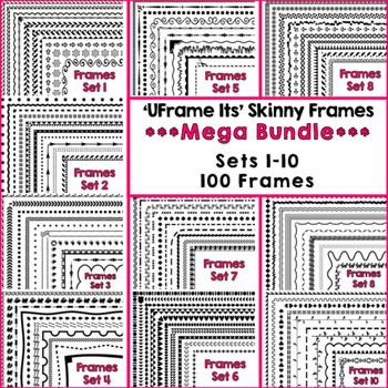 'UFrame Its' Mega Bundle Skinny Worksheet Frames Borders C