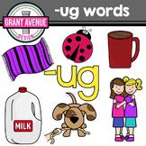 UG Word Family Clipart - CVC Clipart