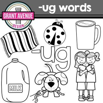 Ug Word Family Clipart