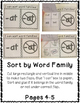 UG Word Family Interactive Notebook