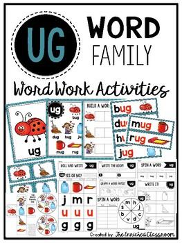 UG Word Family Word Work Activities