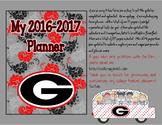 UGA Dawgs Teacher Planner / Organizer plus so much more * Georgia Updated